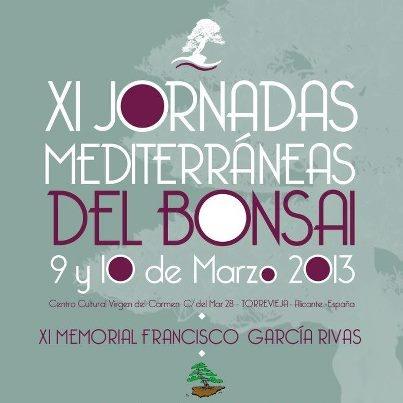 Cartel XI Jornadas Mediterráneas del Bonsái - XVIII MOSTRA DE BONSÁI Comunidad Valenciana