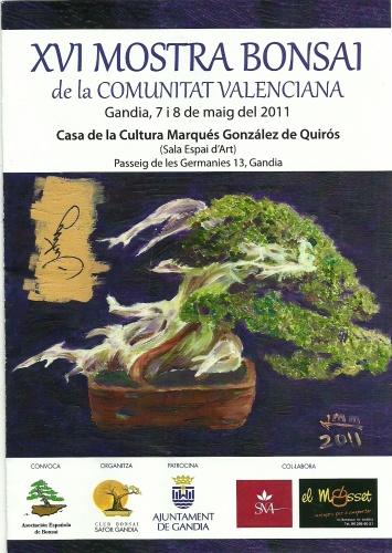 Cartel Mostra Bonsai Comunitat Valenciana