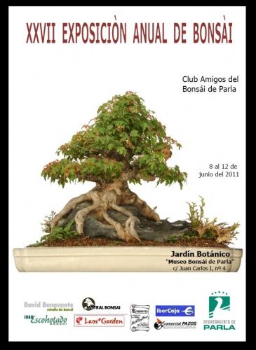 Cartel XXVII Exposicion Anual de Bonsai