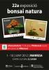 Cartel 22ª EXPOSICION BONSAI NATURA Y 3ª FERIA DEL BONSAI